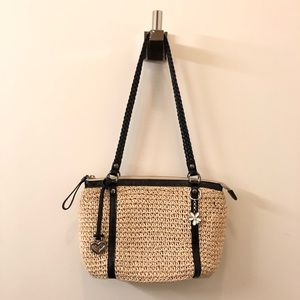 Brighton mini straw shoulder bag